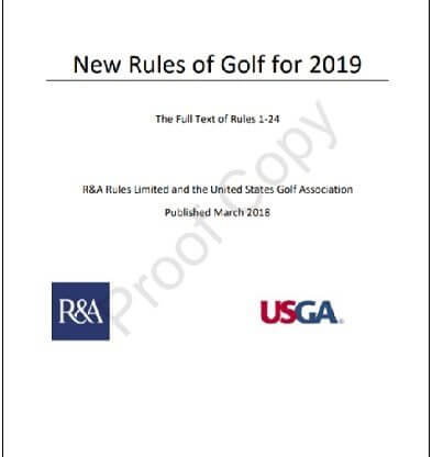 new rules of golf for 2019