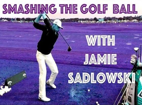 jamie sadlowski smashing the golf ball.