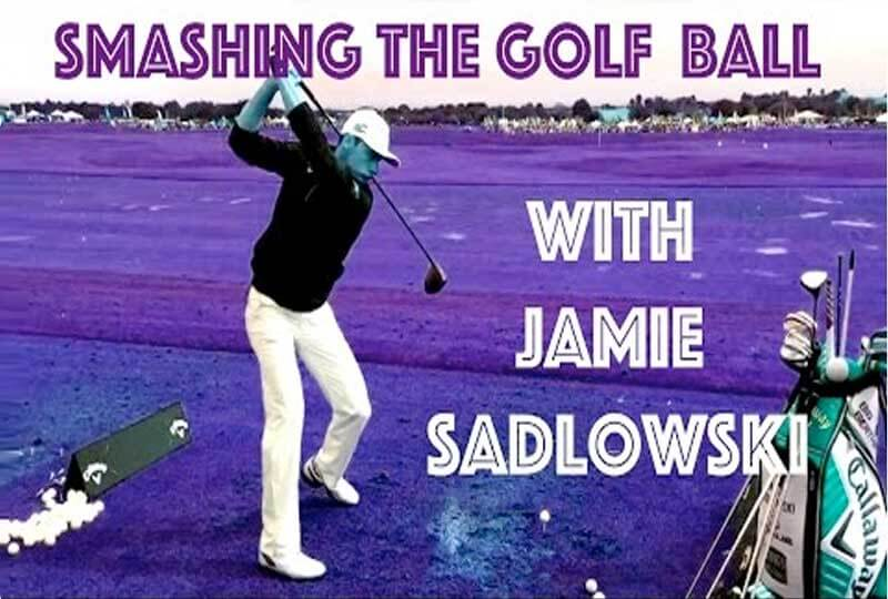 jamie sadlowski, long drive champion, smashing the golf ball.